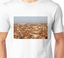 Impressions of Venice - Red Roofs and Cruise Ships Unisex T-Shirt
