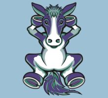 Horse Purple and Turquoise  Kids Clothes