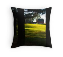 Barn Through the Trees Throw Pillow