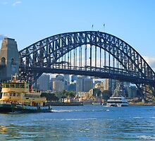 Sydney Harbour Bridge by Bloomin' Arty Phone Cases