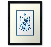 The Angels Have The Phone Box Tribute Poster Dark Blue On White Framed Print