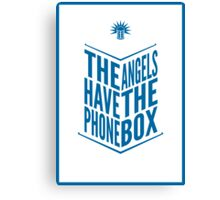 The Angels Have The Phone Box Tribute Poster Dark Blue On White Canvas Print