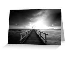 Port Melbourne Pier Greeting Card