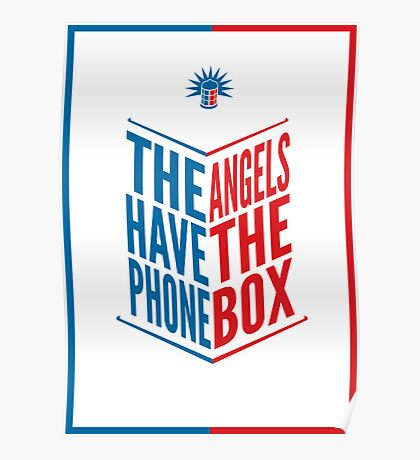 The Angels Have The Phone Box Tribute Poster Dark Blue And Red Knockthrough White Poster