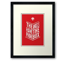 The Angels Have The Phone Box Tribute Poster White On Red Framed Print