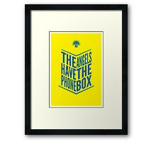 The Angels Have The Phone Box Tribute Poster Dark Blue On Yellow Framed Print