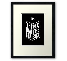 The Angels Have The Phone Box Tribute Poster White on Black Framed Print