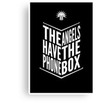 The Angels Have The Phone Box Tribute Poster White on Black Canvas Print