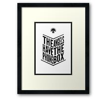 The Angels Have The Phone Box Tribute Poster Black on White Framed Print