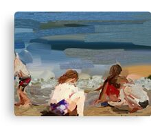 Fun on the beach. Canvas Print