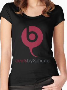 Beets By Schrute - The Office US - (Beats By Dr. Dre) Women's Fitted Scoop T-Shirt