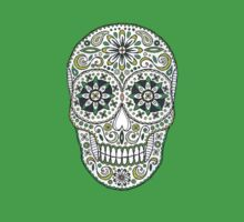 yummy green sugar skull by Stacey Creek