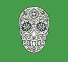 yummy green sugar skull by Stacey Creek