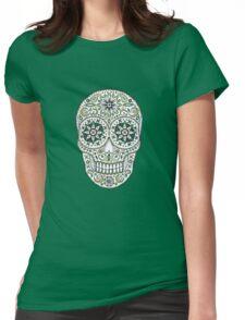 yummy green sugar skull Womens Fitted T-Shirt