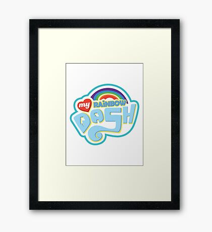 My Little Pony - Rainbow Dash Framed Print