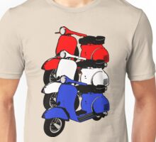 Red White Blue Scooters V Unisex T-Shirt