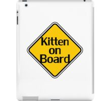 Baby Kitten On Board - Cat Sticker iPad Case/Skin