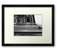 Metro - A Ride in Gray Framed Print