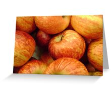 Gala Apples at a Grocery Greeting Card