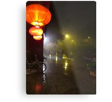 Beijing Streetscape by Lily Metal Print