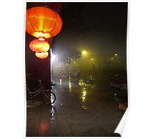 Beijing Streetscape by Lily Poster