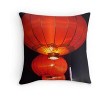 Beijing Lanterns by Lily Throw Pillow
