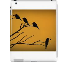 Silhouettes of Bee-eaters iPad Case/Skin