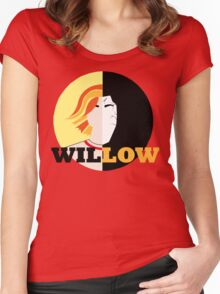 The Many Faces Of Willow Women's Fitted Scoop T-Shirt