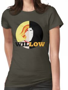 The Many Faces Of Willow Womens Fitted T-Shirt
