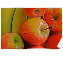 Fresh Fruit - apples and bananas Poster