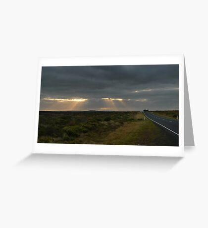 Dawn over the Great Ocean Road Greeting Card