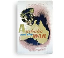 WPA United States Government Work Project Administration Poster 0088 Australia and the War Canvas Print