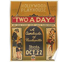 WPA United States Government Work Project Administration Poster 0795 Hollywood Playhouse Two A Day Gene Stone Jack Robinson Poster