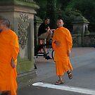 3 Orange Monks by Diane Philips