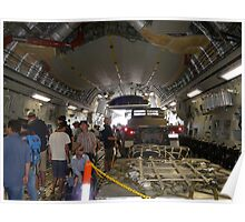 Inside A Big Military Aircraft Poster