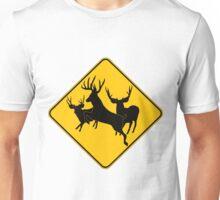 Trophy Buck crossing 3 Unisex T-Shirt