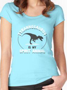 Tyrannosaurus Is My Spirit Animal Women's Fitted Scoop T-Shirt