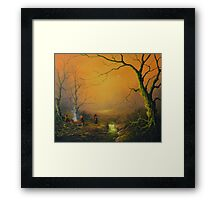 Three Hobbits A Fox And Supper Framed Print