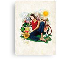 Eco Girl Canvas Print
