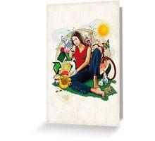 Eco Girl Greeting Card