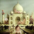 """Jelly Babies ascent on the Taj Mahal......""  by atomikboy"