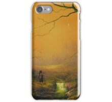 Three is good company (a fox watches on) iPhone Case/Skin