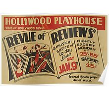 WPA United States Government Work Project Administration Poster 0748 Hollywood Playhouse Revue of Reviews Poster