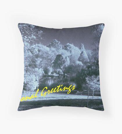 Seasonal Greetings Throw Pillow