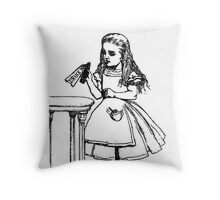 Alice don't drink that poison Throw Pillow