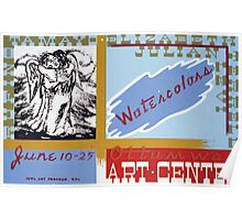 WPA United States Government Work Project Administration Poster 0170 Ottumwo Art Center Watercolors Poster