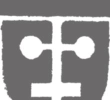 cyberman robot - grey Sticker