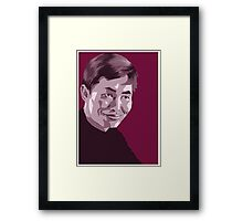 Hikaru Sulu from Star Trek TOS (stylized) Framed Print