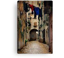 Street in Piran Canvas Print