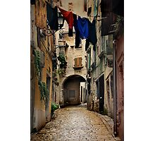 Street in Piran Photographic Print